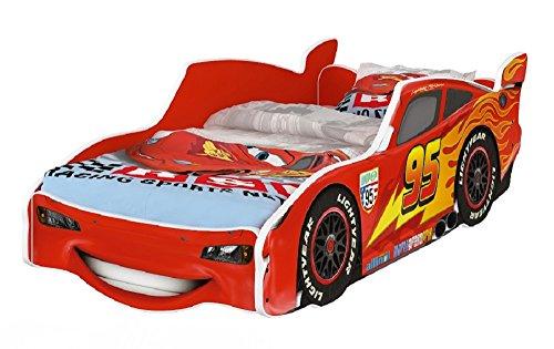 CAMA COCHE MCQUEEN INFANTIL HOGARTREND DISNEY CARS (interior rojo)