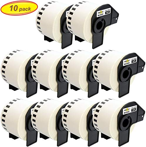 Yellow Yeti 10x DK-22223 50mm x 30,48m Endloss-Etiketten kompatibel für Brother P-Touch QL-500 QL-550 QL-560 QL-570 QL-700 QL-710W QL-720NW QL-800 QL-810W QL-820NWB QL-1050 QL-1060N QL-1100 QL-1110NWB - 500 Brother Ql P-touch