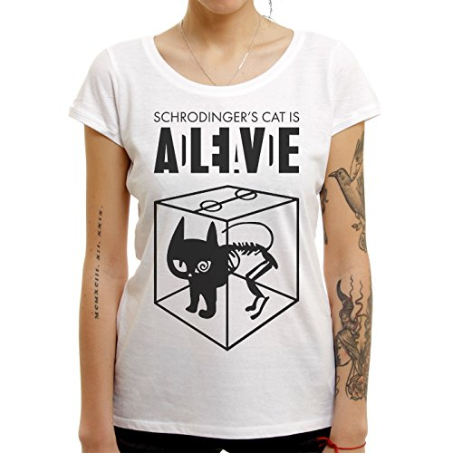 Sheldon Schroedingers Cat Is Alive Edition Large Donne T-Shirt