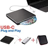 Lecteur Graveur DVD/CD Externe SuperDrive USB-C USB de Type C pour MacBook...