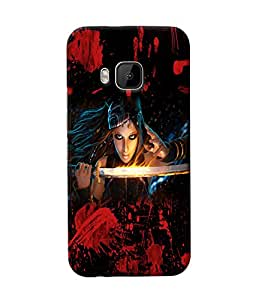 Fuson Blood Sword Girl Back Case Cover for HTC ONE M9 - D3824