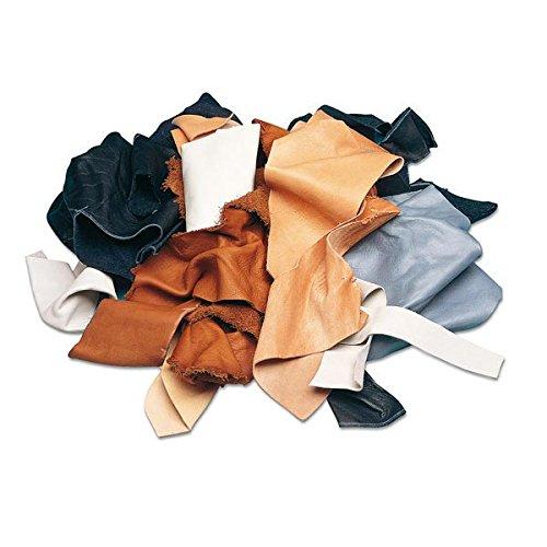 Fabulous Fabrics Lederreste 200g - zum Nähen von Taschen, Dekoration und Accessoires
