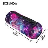 Tizorax Space Galaxy Nebula Starry Trousse Stylo Sac à fermeture Éclair pièce de monnaie Organiseur Maquillage Cosmétique Pouch pour femme Teen Filles garçons enfants