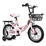 BaoKangShop Draisiennes Vélo for Enfants vélo à pédale d'amortissement 3-12 Ans Poussette Maternelle vélo antidérapant Vélos et Véhicules pour Enfants (Color : Pink, Size : 12 inches)