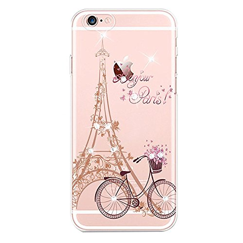 iPhone 7 Coque Silicone,iPhone 7 Coque Transparente,iPhone 7 Coque Crystal Bling Bling,iPhone 7 Coque Ultra-Mince Etui Housse avec Bling Diamant,iPhone 7 Silicone Case Slim Soft Gel Cover,EMAXELERS iP TPU 69