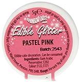 Rainbow Dust Glitzerpulver essbar pastel, rosa, 1er Pack (1 x 5 g)
