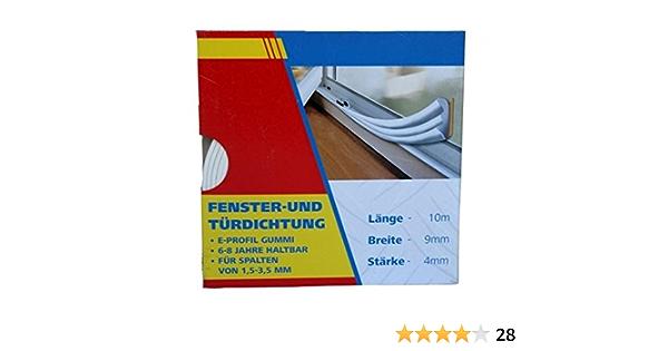 E 9x4mm Braun amagogo GUMMIDICHTUNG Fensterdichtung Dichtung T/ürdichtung E D P I