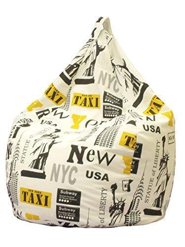 13CASA - Sitzsack aus Baumwolle - New York
