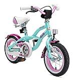 Bikestar Premium Sicherheits Kinderfahrrad 12 Zoll für Mädchen ab 3-4 Jahre ★ 12er Kinderrad Cruiser ★ Fahrrad für Kinder Mint