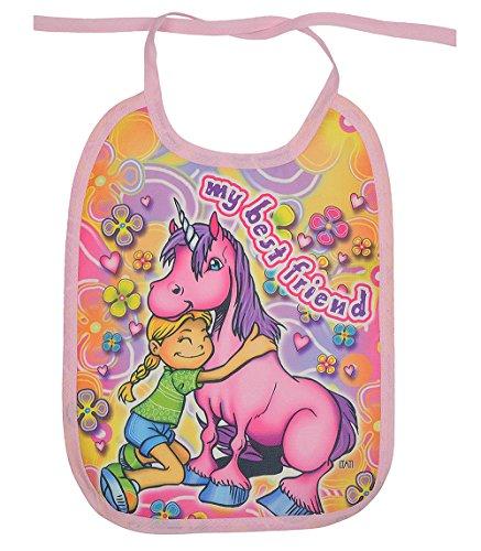Einhorn Babylätzchen - Rosa Einhorn Pferd Baby Motiv Lätzchen : Best Friends - Kinderlätzchen Kleckerschutz