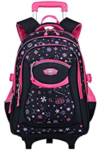 Rolling Backpack,COOFIT Wheeled Trolley Backpack Children's Backpack School Bags Backpacks with Wheels by COOFIT