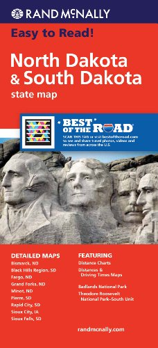 Rand McNally North Dakota/South Dakota State Map (Rand McNally State Maps)