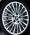 Original BMW Alufelge 3er E90 E91 E92 E93 Radialspeiche 187 in 17 Zoll