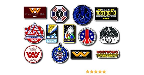 Nostromo Weyland Yutani Corp Sulaco Alien Aliens Aufkleber Set Motiv Alien Movie Digitaler Druck 13 Stück Uv Laninated Auto