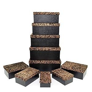 Gifts 4 All Occasions Limited SHATCHI-1297 Shatchi - Cajas de almacenamiento con tapa para decoración del hogar, regalos de Navidad, suministros para fiestas 11676, multicolor