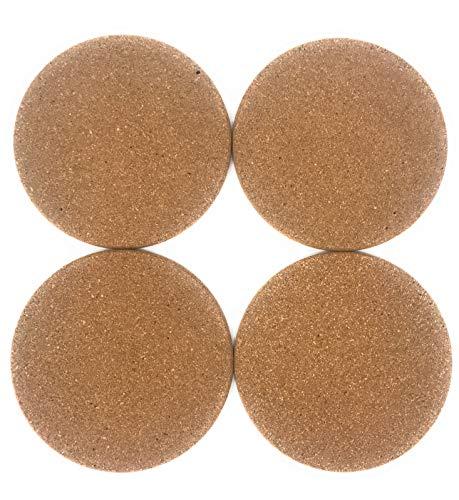 lana naturalis® Lot de 4 Dessous de Verre en liège résistant de 19 cm de diamètre/épaisseur 10 mm, Dessous de Verre en liège Naturel