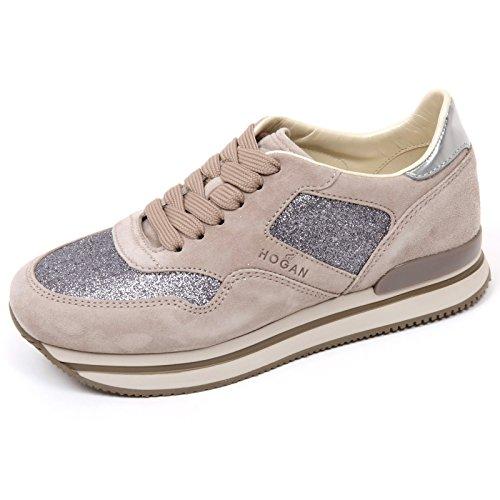 C9116 sneaker donna HOGAN H222 scarpa sportivo XL tortora chiaro shoe woman tortora chiaro