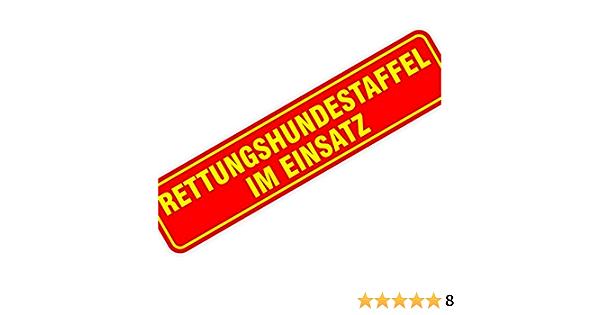 Magnetschild Magnettafel Schild Rettungshundestaffel Im Einsatz 300x70 Mm 0 9 Mm Stark Haftend Runde Kanten Baumarkt