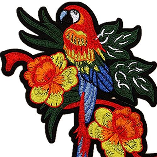 Kostüm Muster Papagei - Obctk Papagei Bügeln Patch Nähen Stickerei Applique Abzeichen, DIY Geschenk Tuch Abzeichen Applique Kostüm Rucksack Hut Jeans Aufkleber, Erwachsene Kinder Geschenke