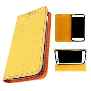 DooDa PU Leather Flip Case Cover For LG Nexus 4 (Yellow)