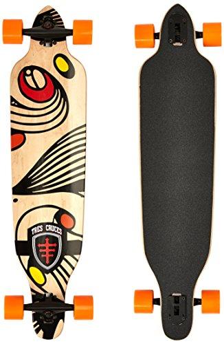 Maxofit Longboard 'Tres Cruces No. 417', 104 Cm, 7 Strati Di Acero Canadese, Drop Through, 41X9,5',