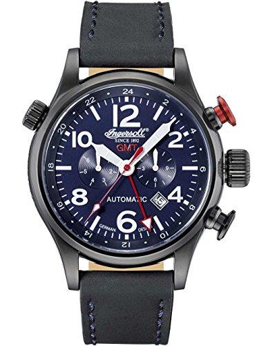 Ingersoll Herren Analog Automatik Uhr mit Leder Armband IN3218BBL