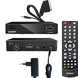 Edision progressiv hybrid lite DVB-C/T Kabel Receiver für digitales Kabelfernsehen inkl. Scart Adapter Kabel