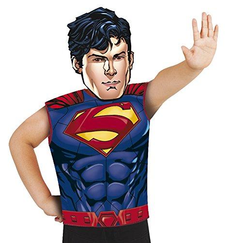 Maske für Kinder bunt (Kinder-superman-outfit)