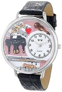Whimsical Watches - WHIMS-U0510001 - Montre Mixte - Quartz Analogique - Bracelet Cuir Noir