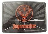 Jägermeister - Blechschild mit Logo & Schriftzug - Blechschild 20 x 14 cm