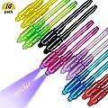 DAYPICKER 14 Paquetes Bolígrafo de Tinta Invisible, lápiz espía con rotulador mágico de luz UV para Mensajes Secretos y Fiestas Magic Marker para Dibujar una Actividad Divertida de DAYPICKER