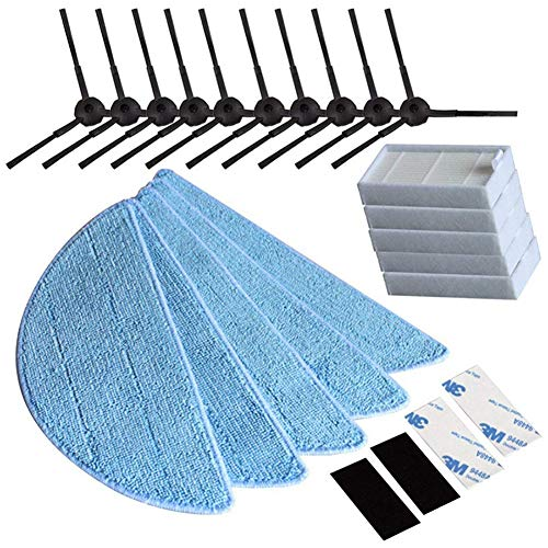 Towinle Seitenbürste HEPA Filter Tuch Velcro Staubsauger-Teile für ilife v5s ilife v5 pro ilife x5 V3+ V5 V3 v5pro