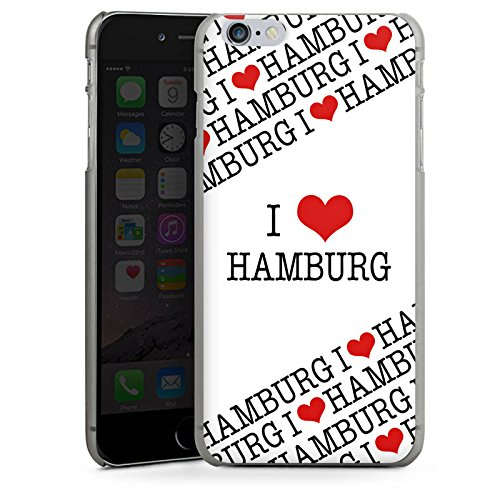 Apple iPhone X Silikon Hülle Case Schutzhülle Hamburg Herz Love Hard Case anthrazit-klar