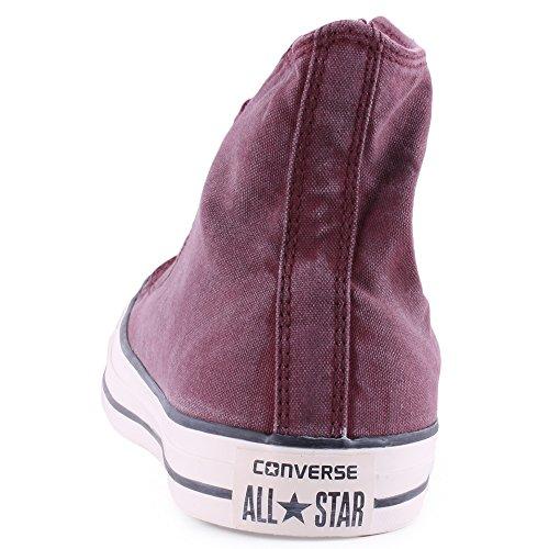 Converse  Chuck Taylor All Star Adulte Basic Wash HI, Bottes Classiques mixte adulte Rouge - Bordeau
