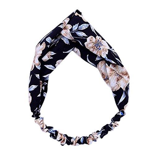 adfd73753c24 lumanuby Lady Diademas tela impresa Trim para mujer aro flores impresión elástica  elegante Hairband para deportes