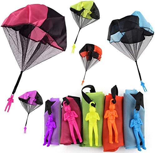 5 stücke Verwicklung Freiwerfen Spielzeug Fallschirm Spielzeug Werfen Sie Es Oben und Beobachten Landung Fliegen Spielzeug Kinde