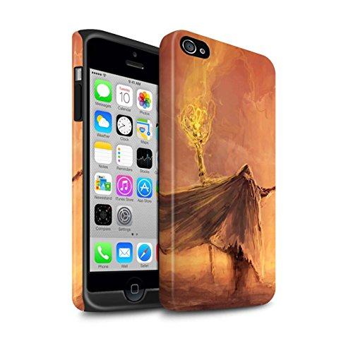 Offiziell Chris Cold Hülle / Matte Harten Stoßfest Case für Apple iPhone 4/4S / Dramargu/Vollmond Muster / Dämonisches Tier Kollektion Kriegsheld/Warlock