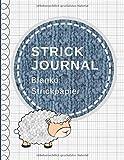 Strick Journal: Blanko Strickpapier, Strickmuster Notizbuch, Verhältnis 4:5