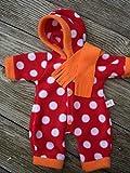 Puppenkleidung handmade Schneeanzug Skianzug Overall + Schal für little Baby Born my first Annabell Chou Gr. 32 ,Gr. 36-38 Gr. 40-45 oder Gr. 46-48