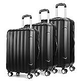 Amzdeal 360° Hartschalen Koffer Trolley mit Kugellager Rollen in 3 Koffergrößen