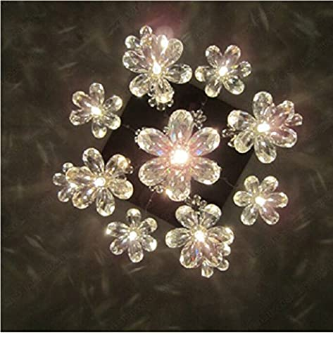PinWei@ Lustre en cristal fleur, restaurant de lustre, lustre de fenêtres décorées de boutique,lumière chaude de 45 * 70cm