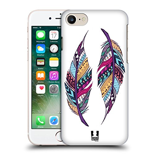Head Case Designs Tenero Gatti A Pois Cover Morbida In Gel Per Apple iPhone 7 Plus / 8 Plus Piume