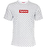 Supreme Italia Herren T-Shirt Logo Patch (S, White-Black)