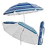 Sombrilla Plegable Azul Garden de Nylon para Playa de 220 cm. - LOLAhome