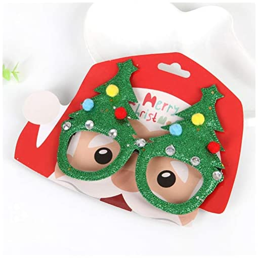 STOBOK-4-stcke-Weihnachten-Brillengestell-Neuheit-Weihnachtsbaum-Geweih-Horn-Weihnachten-Hut-Bowknot-Design-Weihnachtsfeier-Favor-Sortierte-Muster