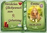 Tortenaufleger Fototorte Tortenbild zum Geburtstag Buchform DIN A5 G25 (Zuckerpapier)