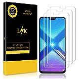LK Protection écran pour Honor 8X [3 Pièces], Peau liquide [Full Coverage] [Sans bulles] Transparent TPU Film Protection écran Pour Huawei Honor 8X