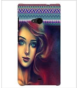 PrintDhaba Beautiful Girl D-5623 Back Case Cover for MICROSOFT LUMIA 535 (Multi-Coloured)