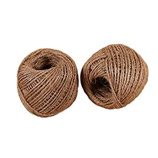 MoGist 200M Natural Jute Twine 3-Ply Rope DIY Arts Crafts Use for Floristry,Gifts,Plants, DIY Arts Crafts, Decoration, Bundling and Garden