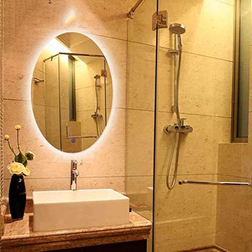 LLG Household Items& Make-up-Spiegel LED-Badezimmer-Spiegel mit Beleuchtung Licht-Wand-Spiegel-Licht-Spiegel Spiegel for Badezimmer und Gäste-WC Backlit (Farbe: Warmes Licht, Größe: 50CMx70CM)
